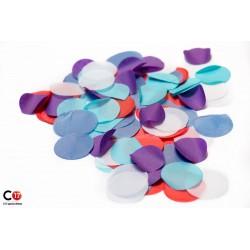 Confettis Papiers rond 5cm multi