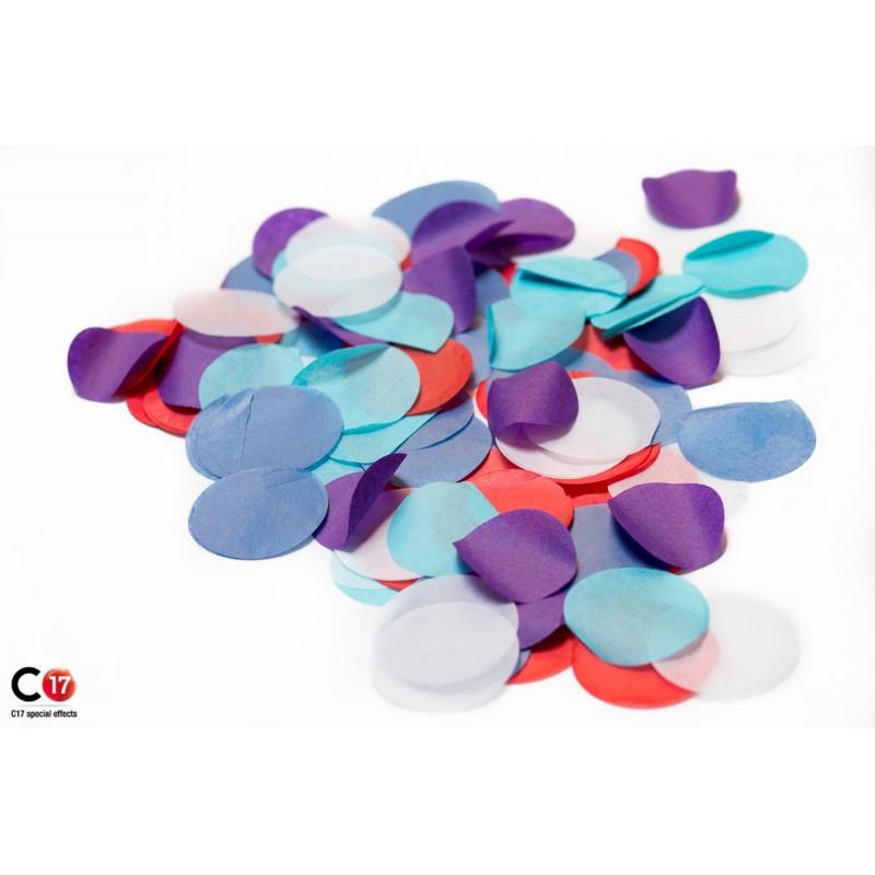 Confettis papier rond for Papier peint avec rond de couleur