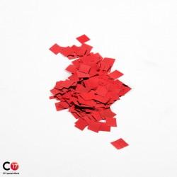 Confettis brillant 6x6mm Rouge