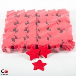 Confettis Papier Etoile 5cm rouge