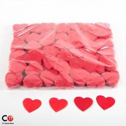 Confettis papier Coeur 5cm Rouge